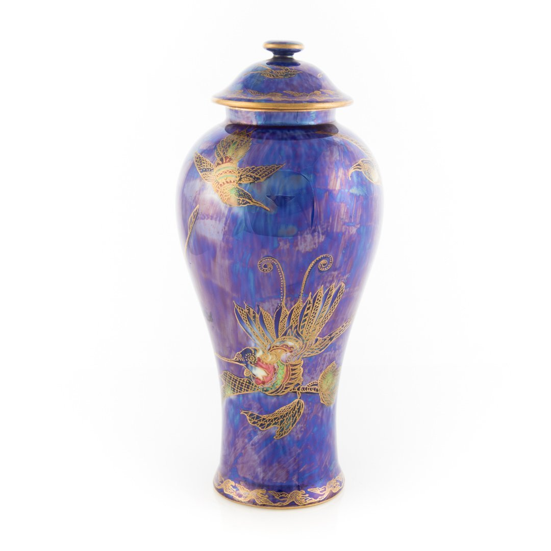 Wedgwood lustre Phoenix covered jar
