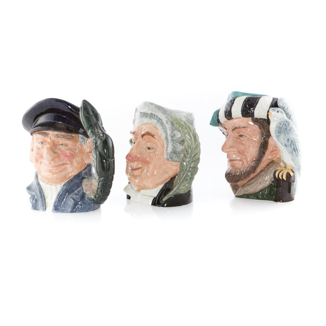 Six Royal Doulton china character mugs - 2