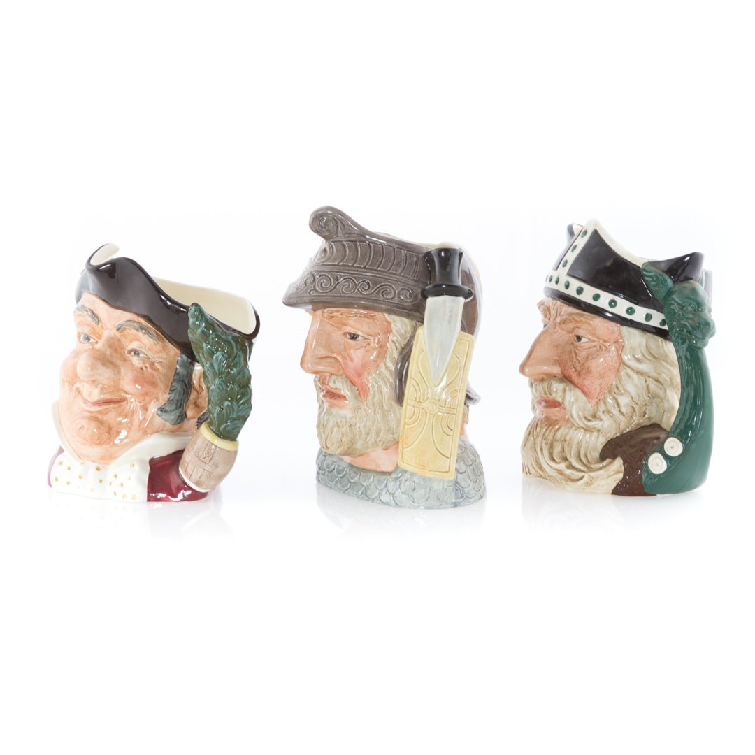 Six Royal Doulton china character mugs - 3