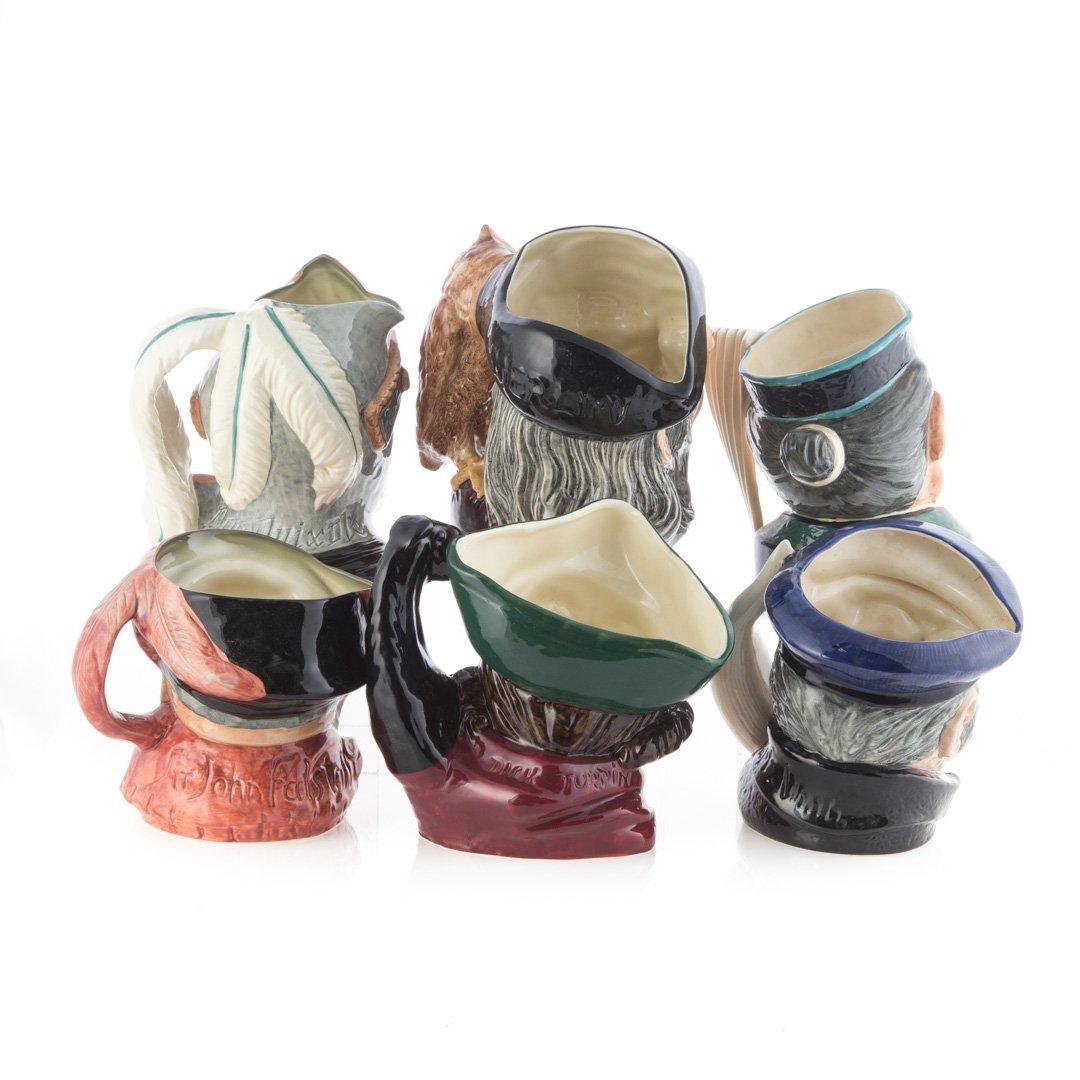 Six Royal Doulton china character jugs - 2