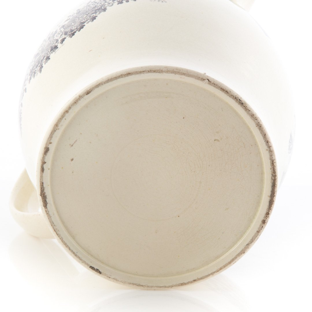 Liverpool creamware Masonic black transfer jug - 4