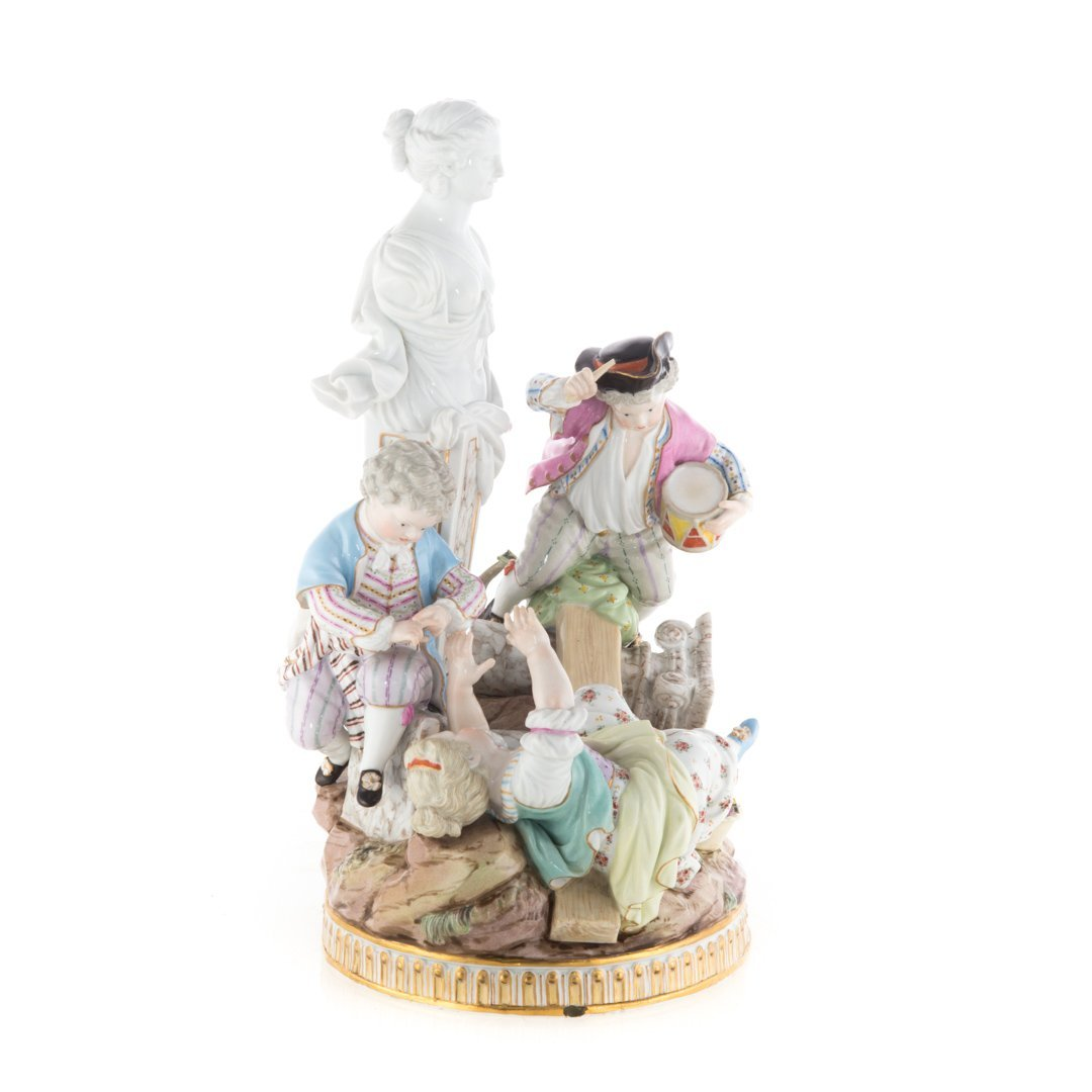 Meissen porcelain figural group - 2