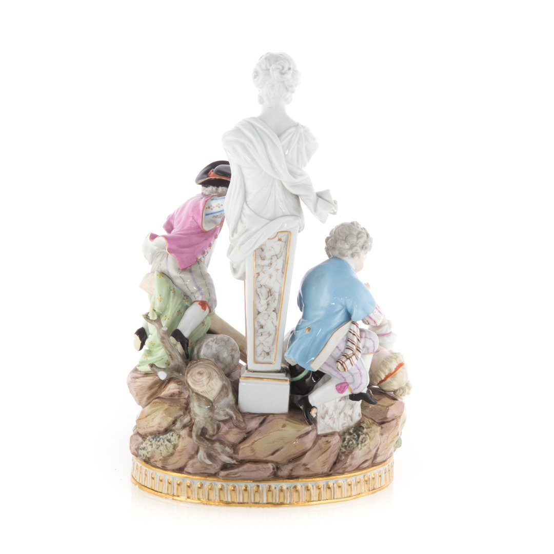 Meissen porcelain figural group - 3