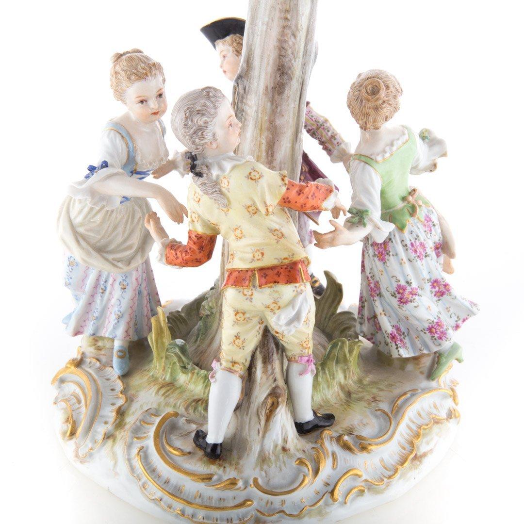 Meissen porcelain figural group - 4