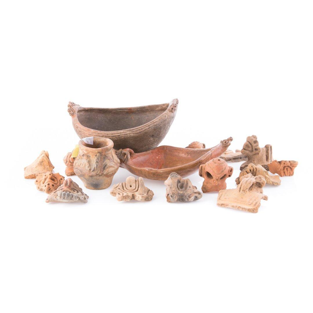Three Pre-Columbian Taino ceramic objects