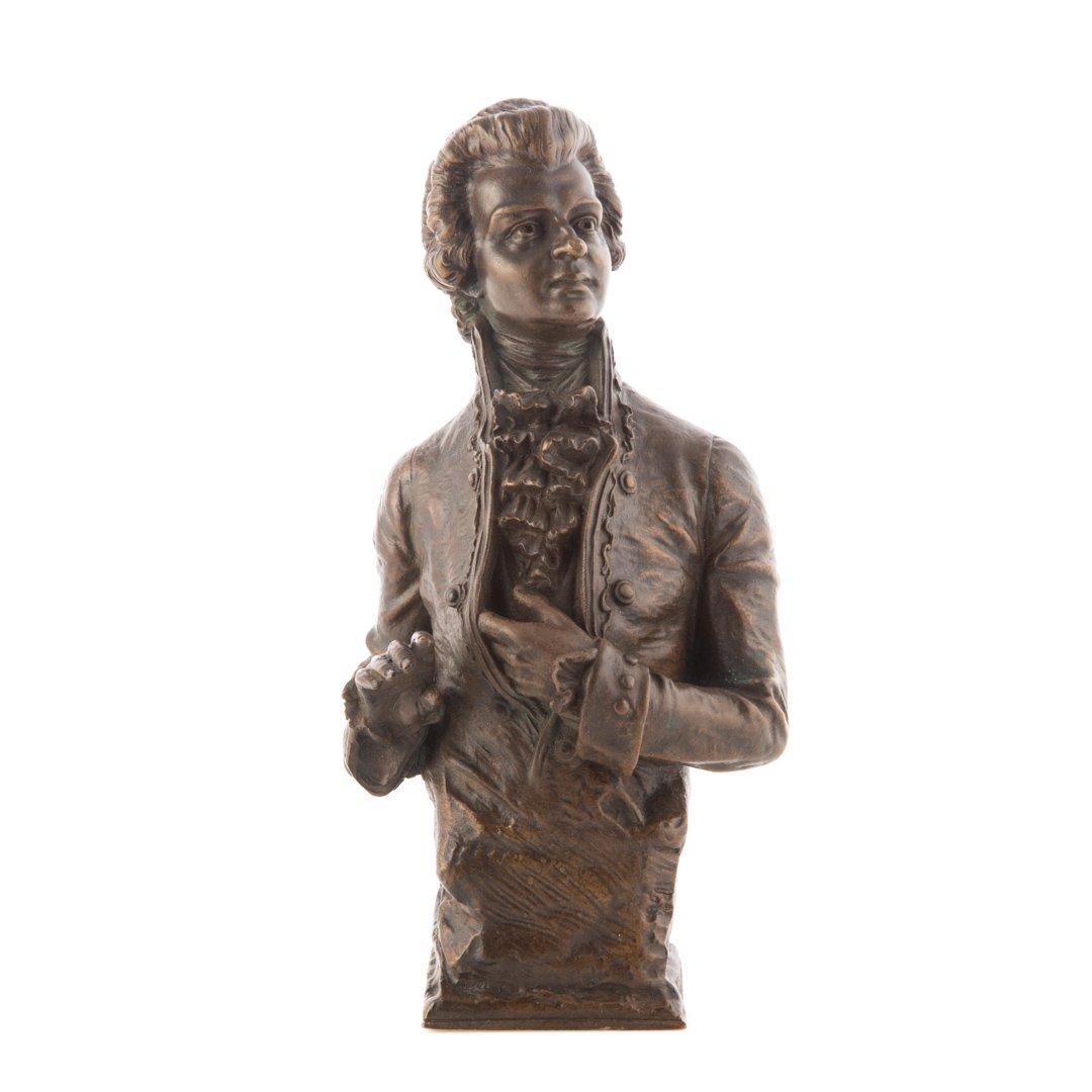 Carl Kauba. Mozart bronze sculpture