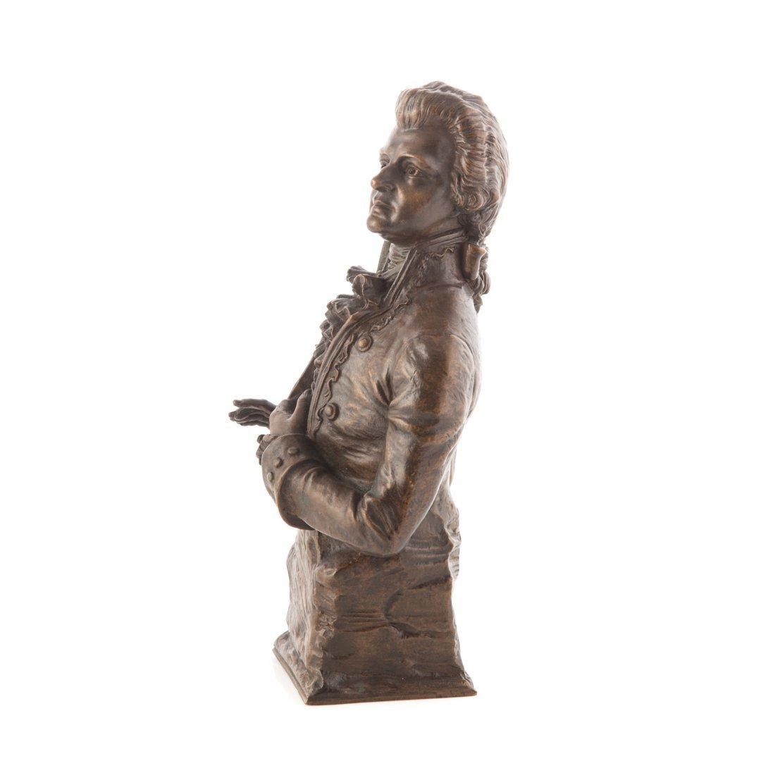 Carl Kauba. Mozart bronze sculpture - 2