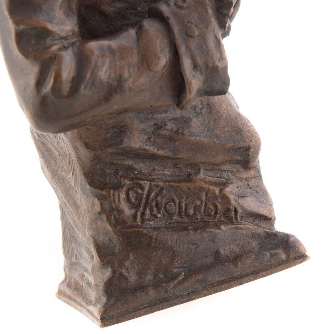 Carl Kauba. Mozart bronze sculpture - 4