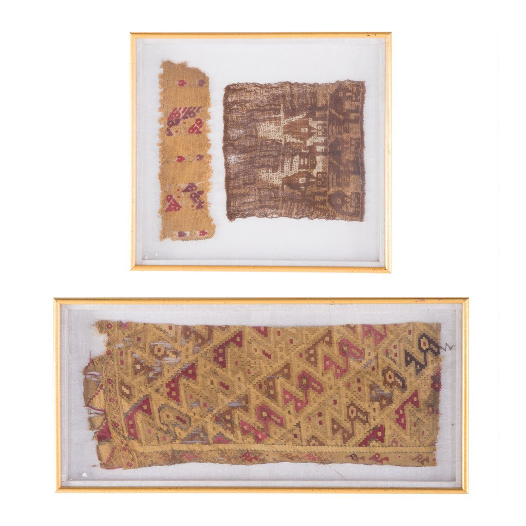 Three Native American textile fragments