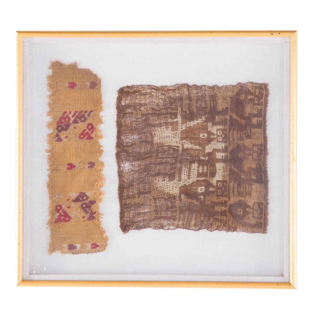 Three Native American textile fragments - 3
