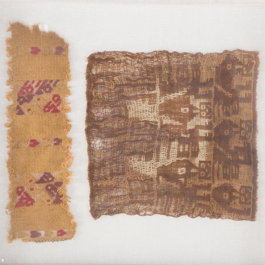 Three Native American textile fragments - 4