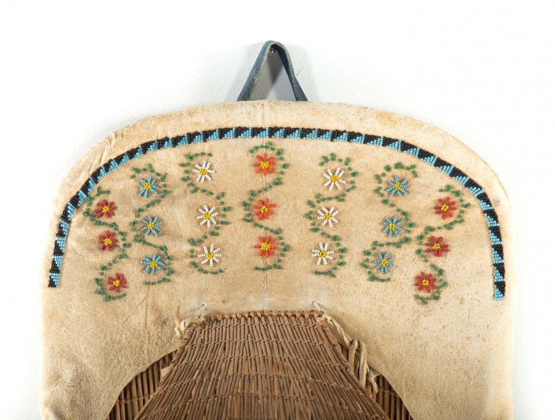 Paiute Indian cradle board - 4