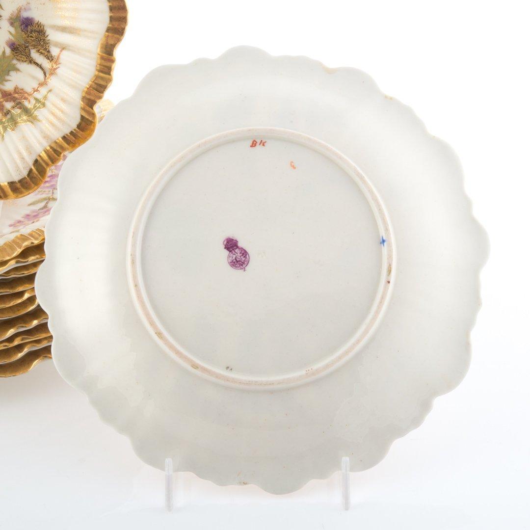 12 Royal Worcester Art Nouveau china plates - 2