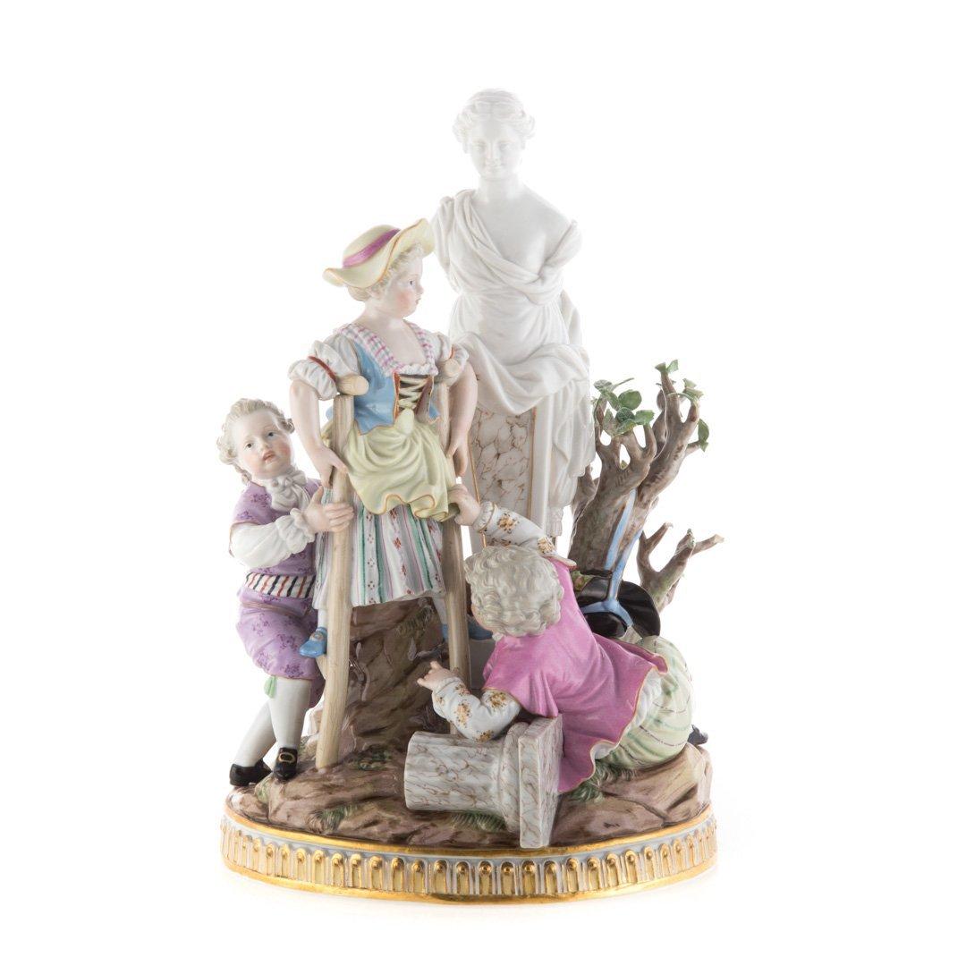 Meissen porcelain figural group