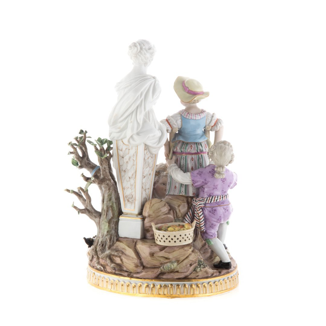 Meissen porcelain figural group - 3