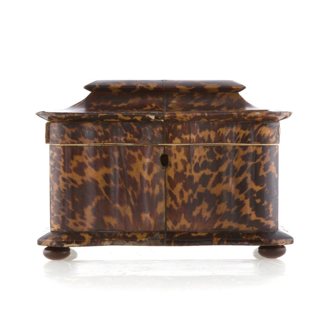 George III serpentine tea caddy