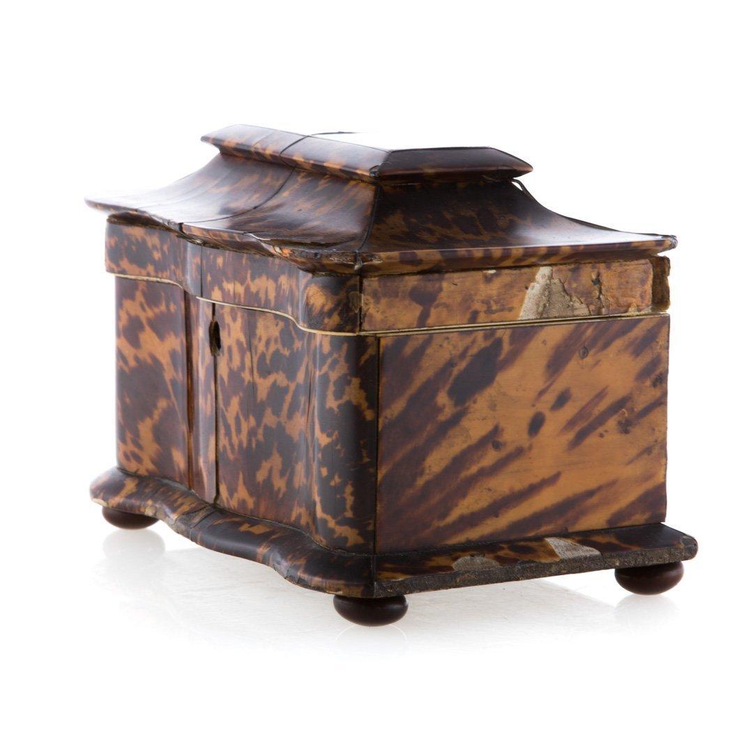 George III serpentine tea caddy - 2
