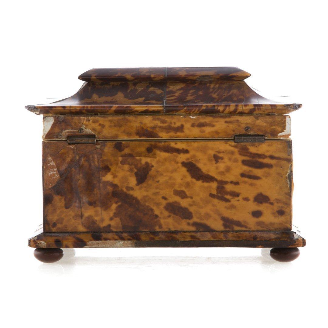 George III serpentine tea caddy - 3
