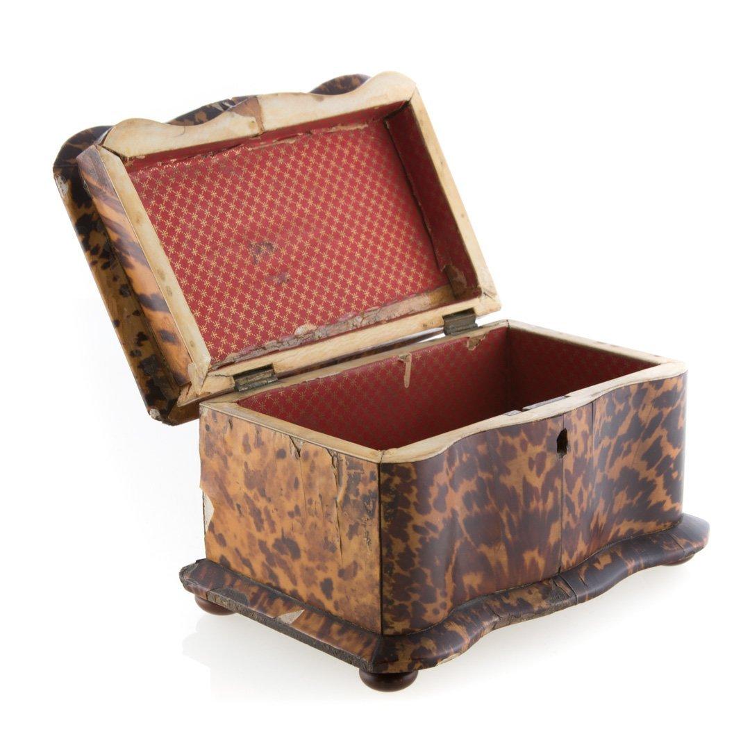 George III serpentine tea caddy - 4