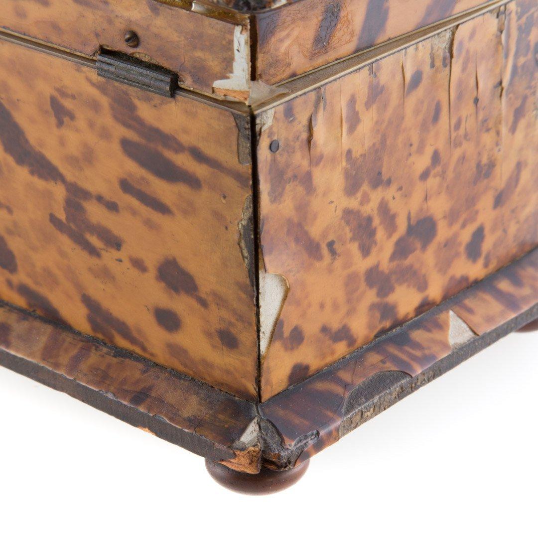 George III serpentine tea caddy - 5