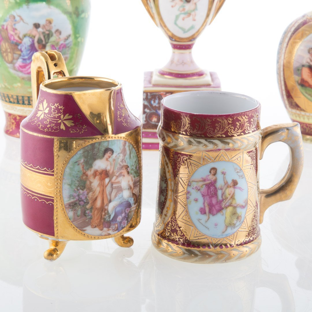 Five Vienna porcelain articles - 2