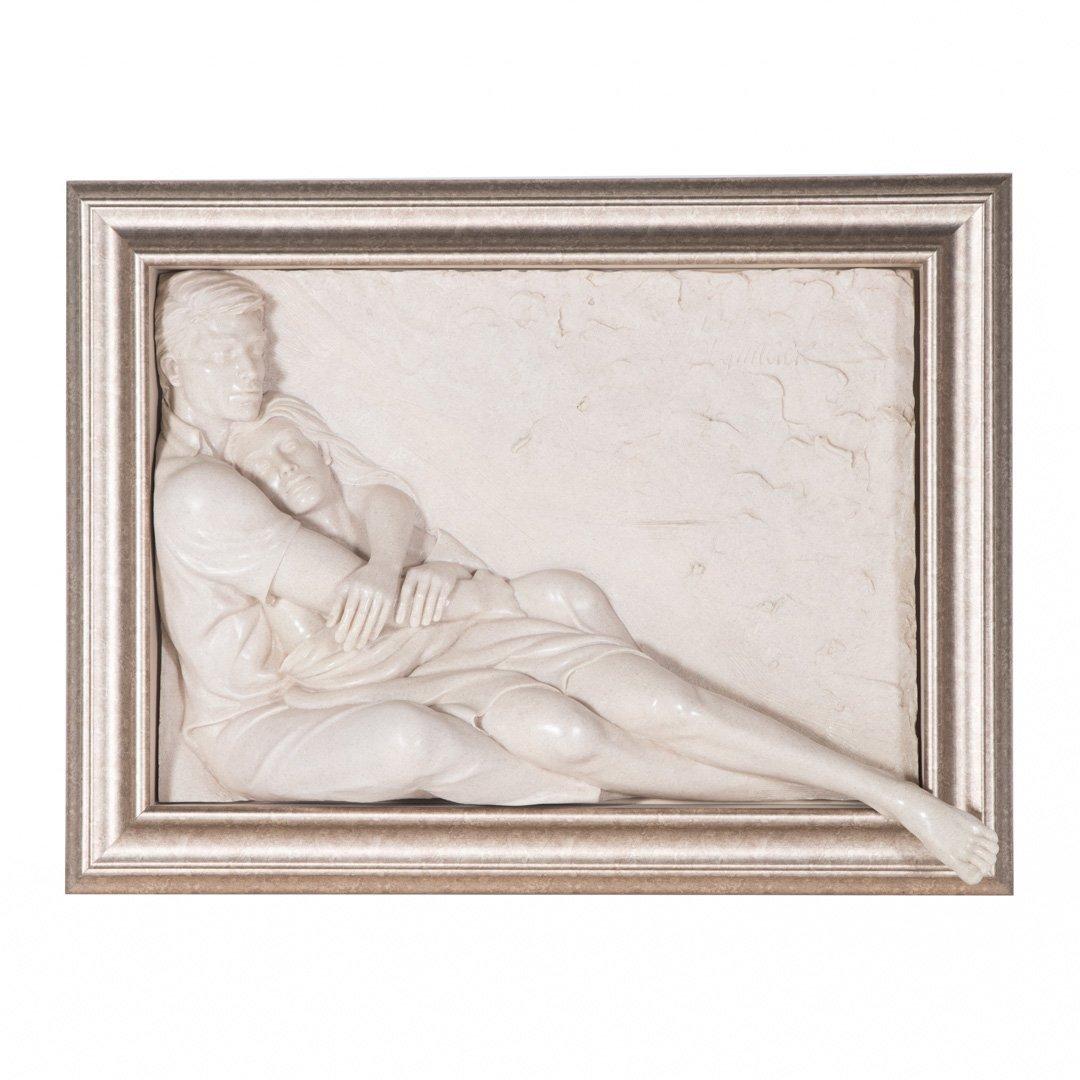 Bill Mack. Together, bonded sand relief sculpture