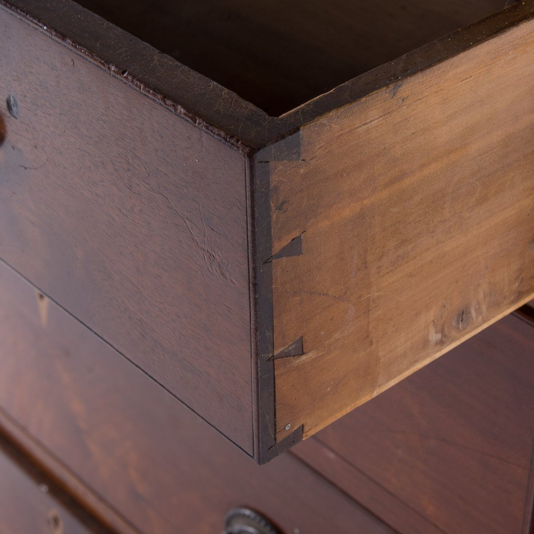 Federal walnut chest of drawers - 3