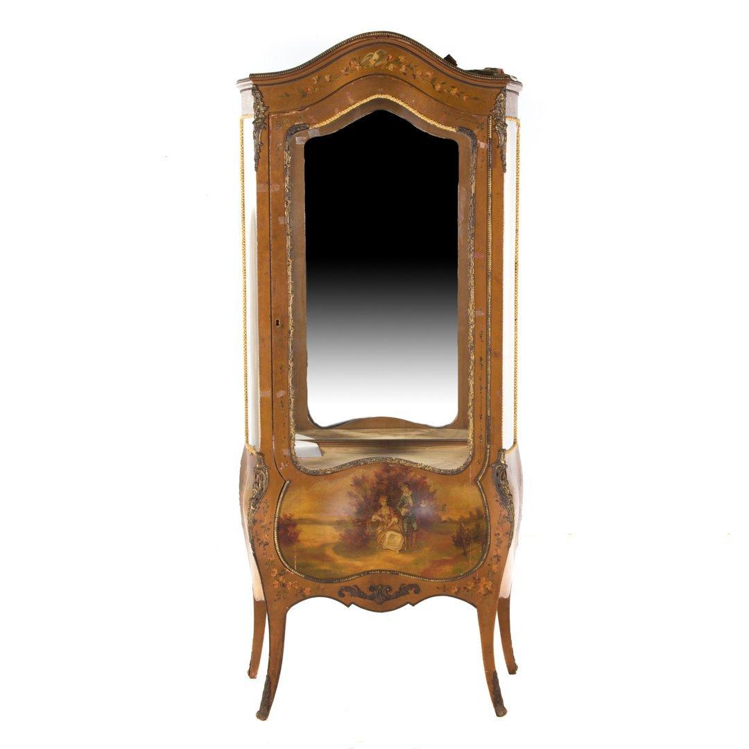 Louis XV style Vernis Martin curio cabinet