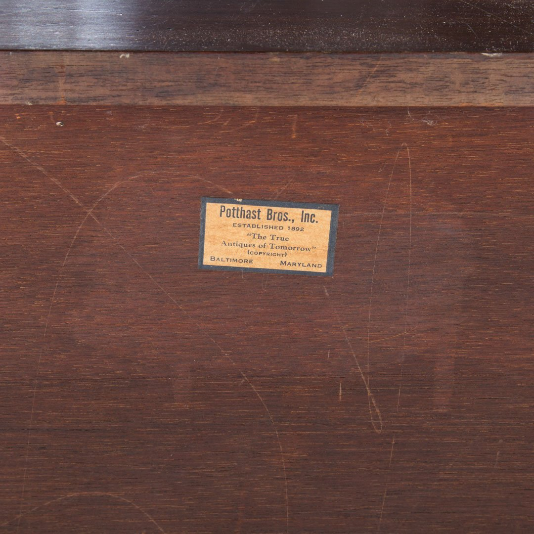 Potthast Federal style mahogany chest of drawers - 4