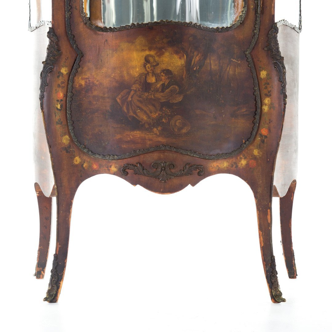 Louis XV style Vernis Martin glass panel vitrine - 2