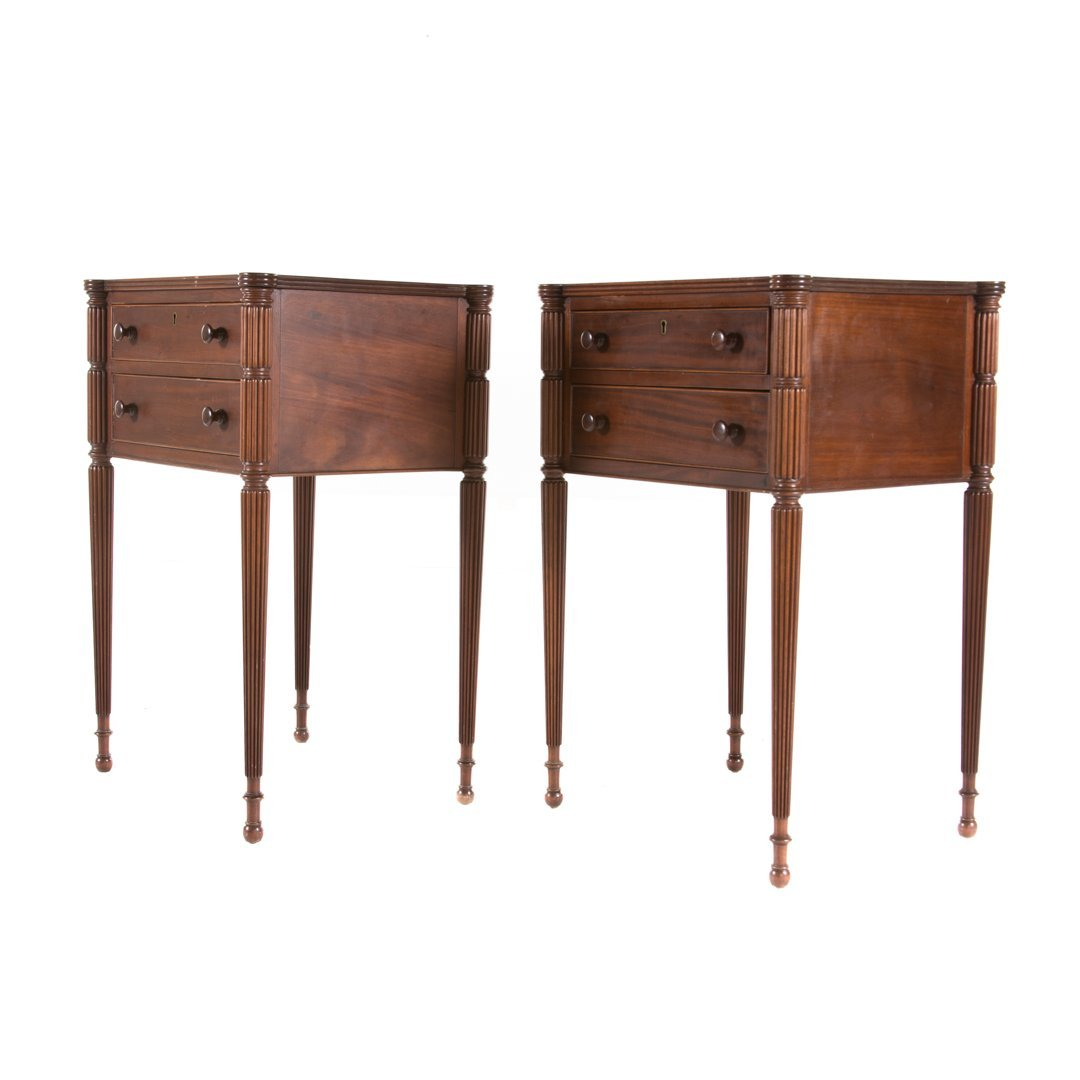 Pair Potthast Bros. Federal style mahogany stands - 2