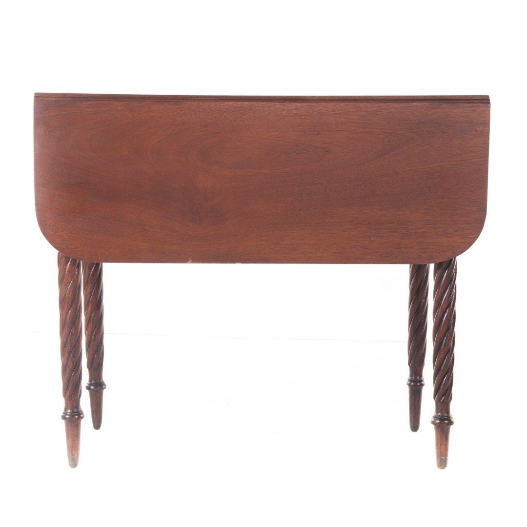 Late Federal mahogany pembroke table