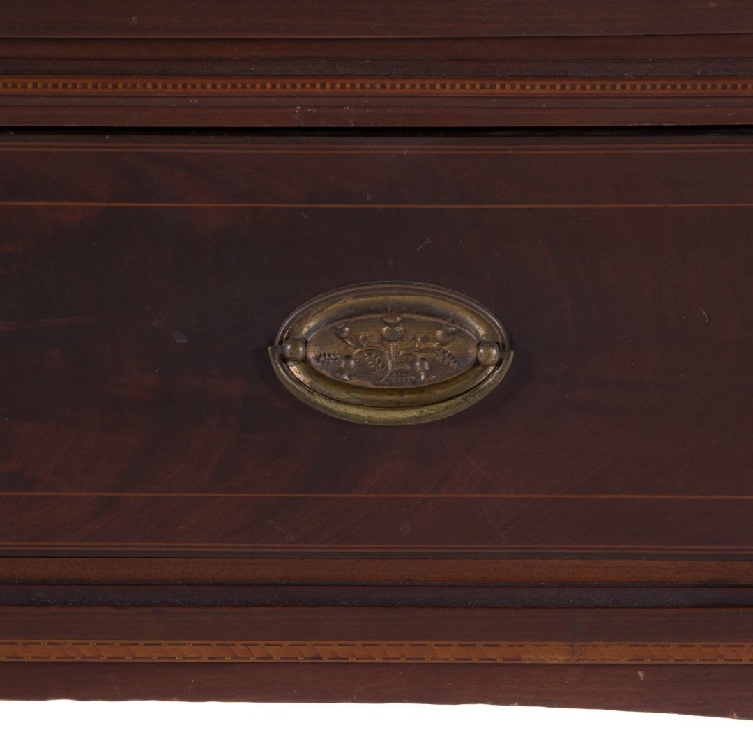 Potthast Bros Federal style mahogany inlay cabinet - 4