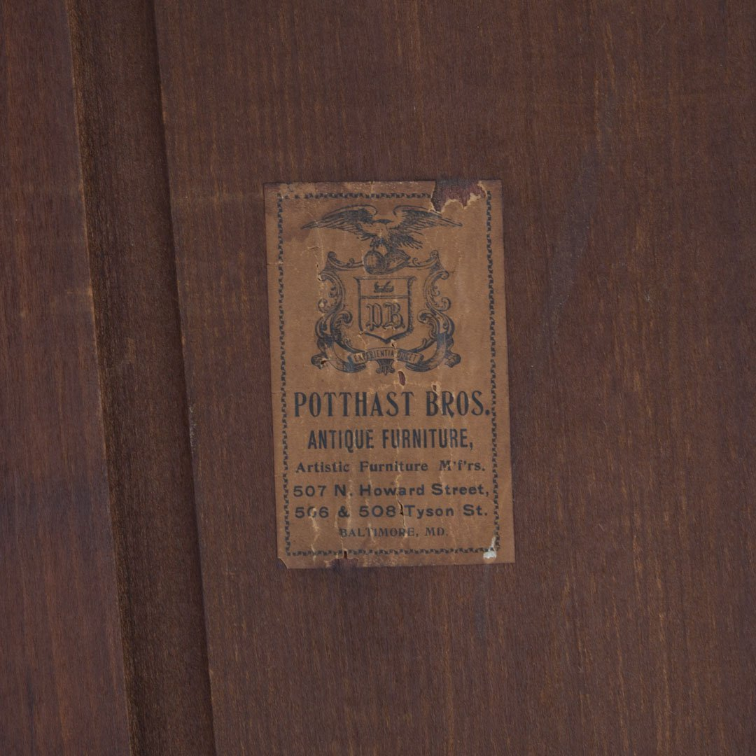 Potthast Bros Federal style mahogany inlay cabinet - 7