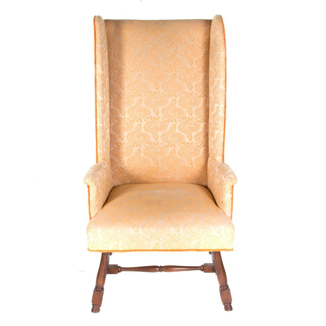 William and Mary style upholstered wing chair - 2