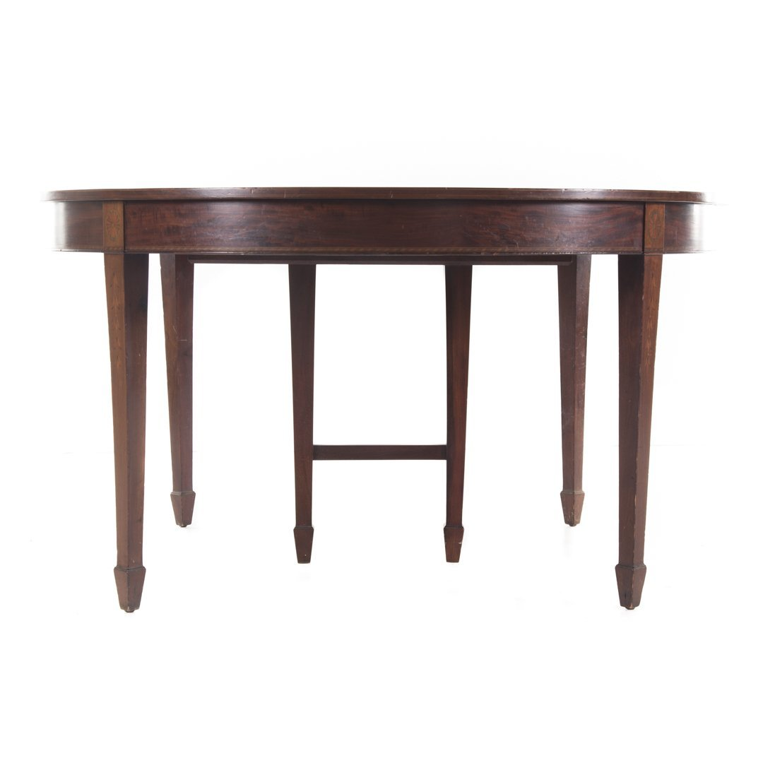 Potthast Bros. Federal style mahogany dining table