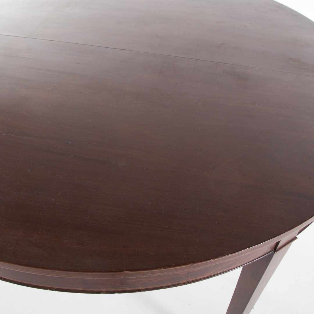 Potthast Bros. Federal style mahogany dining table - 3