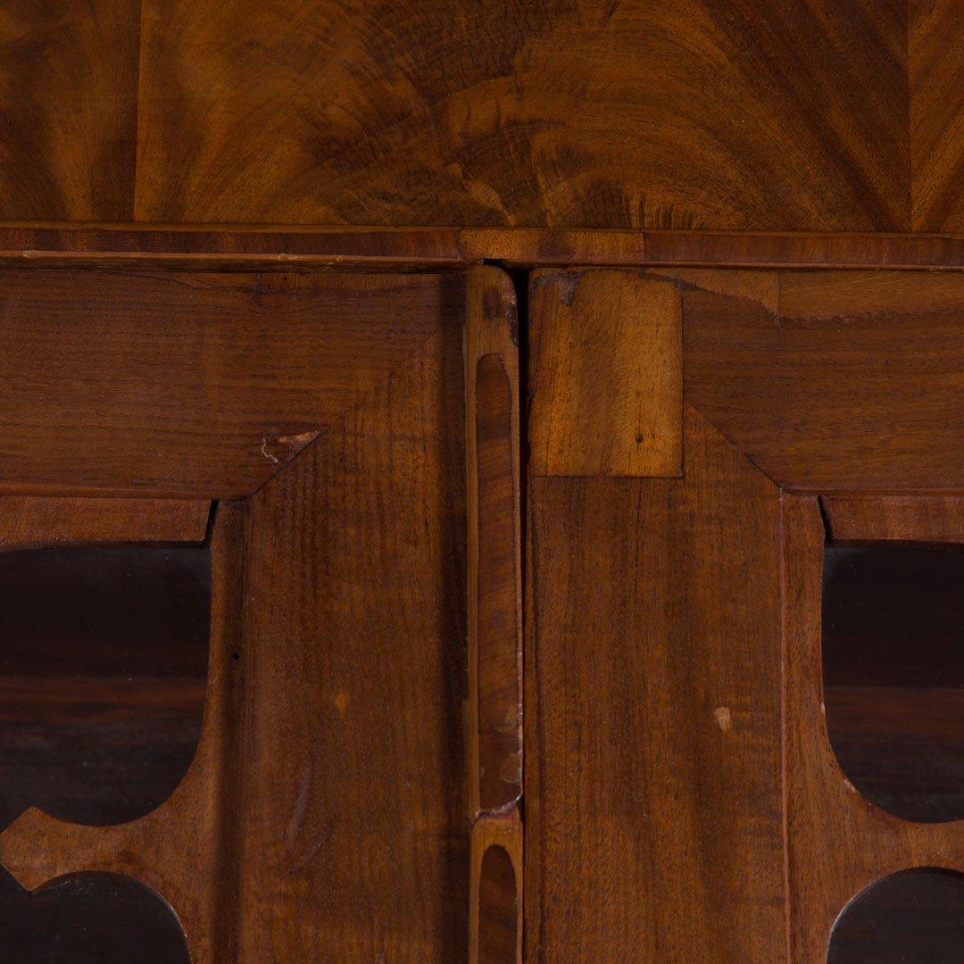 American Gothic revival walnut secretary bookcase - 4