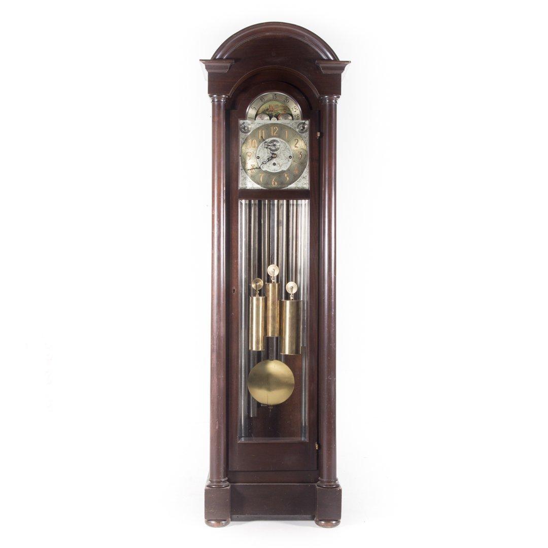 Classical Revival mahogany tall case clock