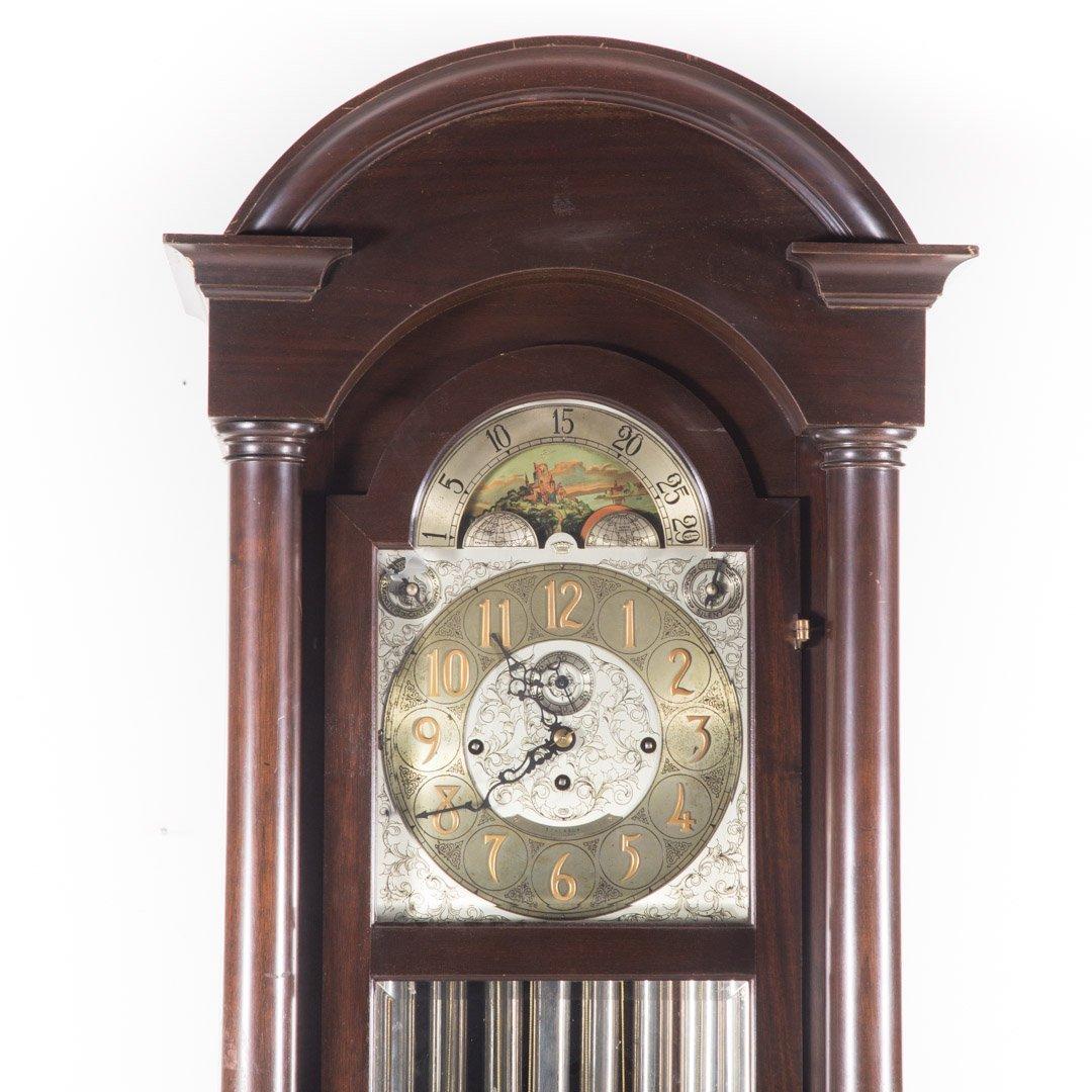 Classical Revival mahogany tall case clock - 2
