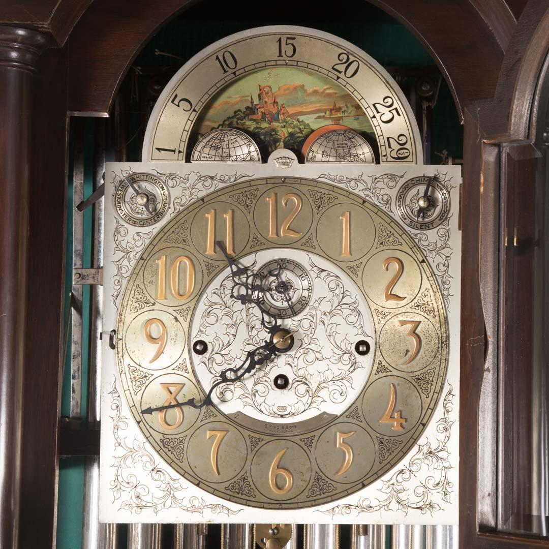 Classical Revival mahogany tall case clock - 4
