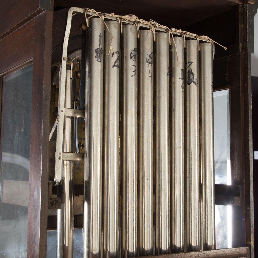 Classical Revival mahogany tall case clock - 6