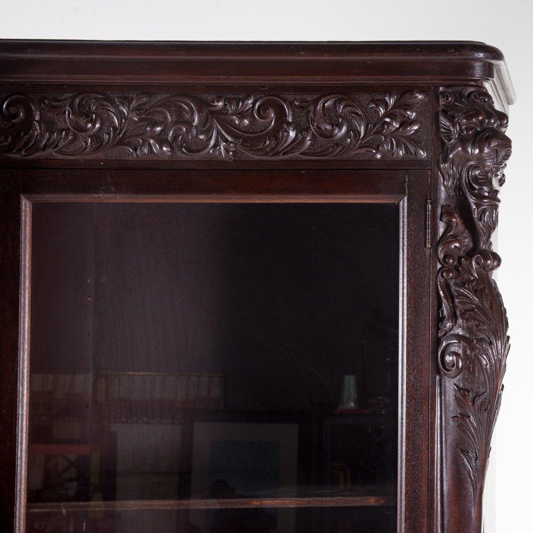 American Renaissance Revival walnut bookcase - 2