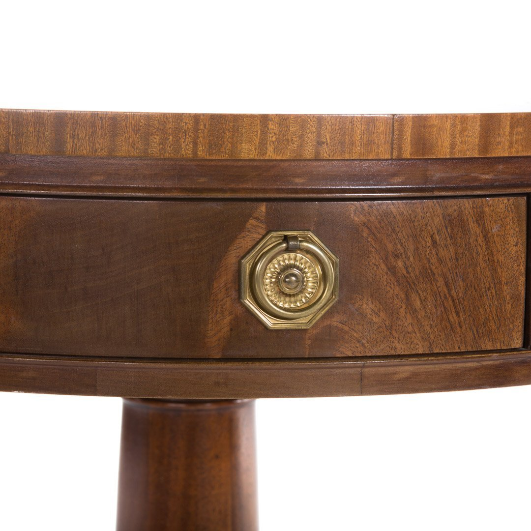 Hickory Chair Federal style mahogany drum table - 2