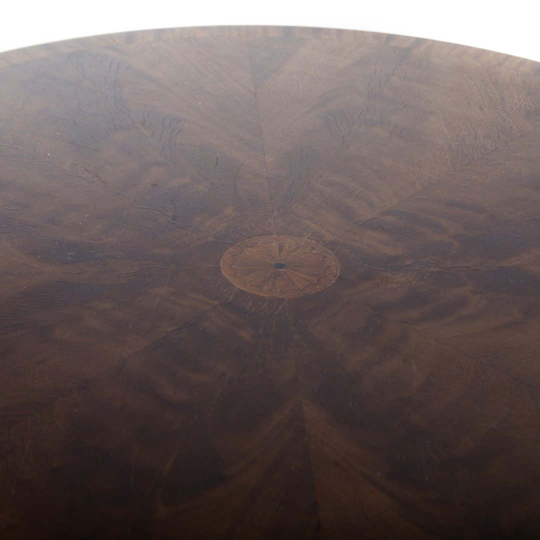 Hickory Chair Federal style mahogany drum table - 3