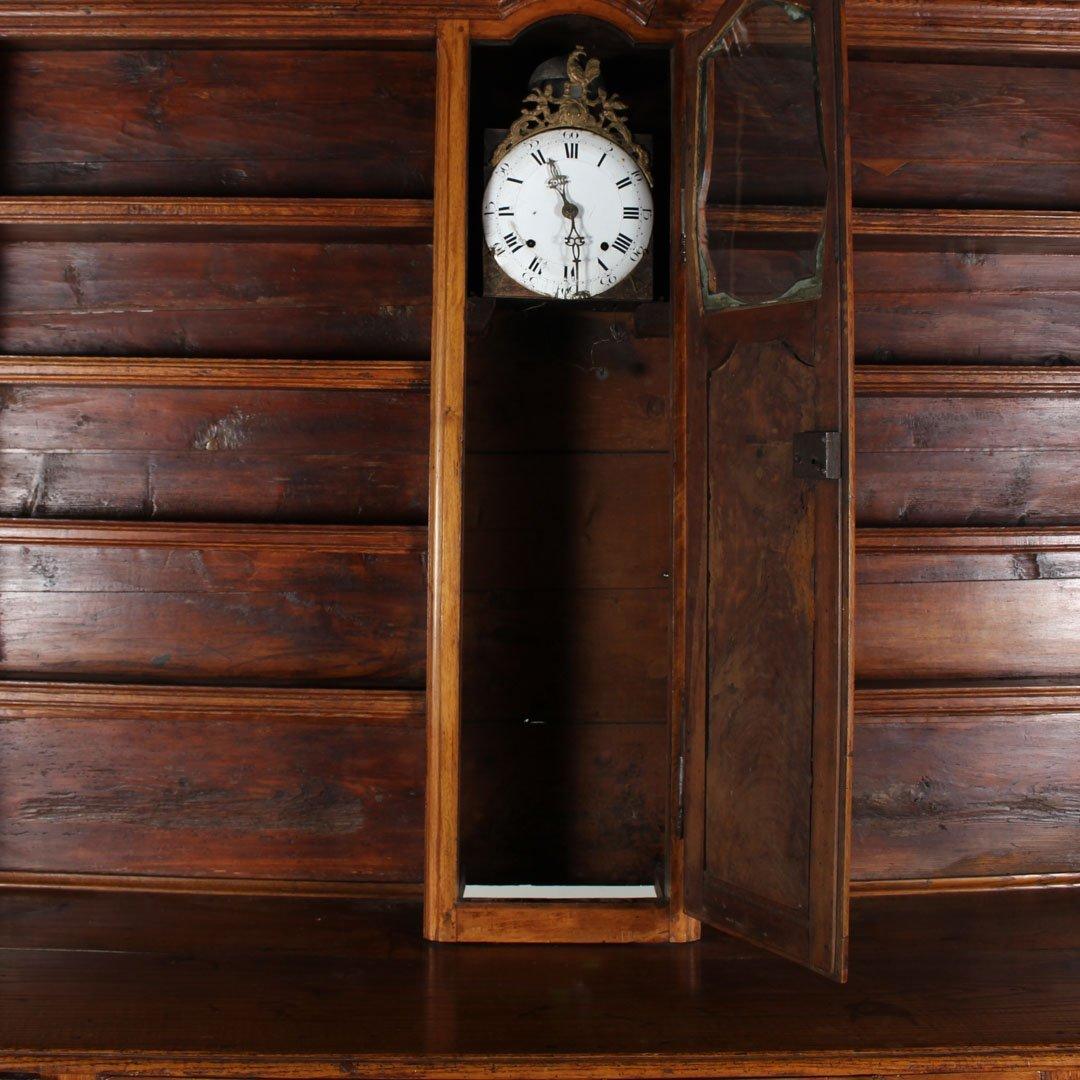 Louis XVI walnut vesalier with Mobilier clock - 2