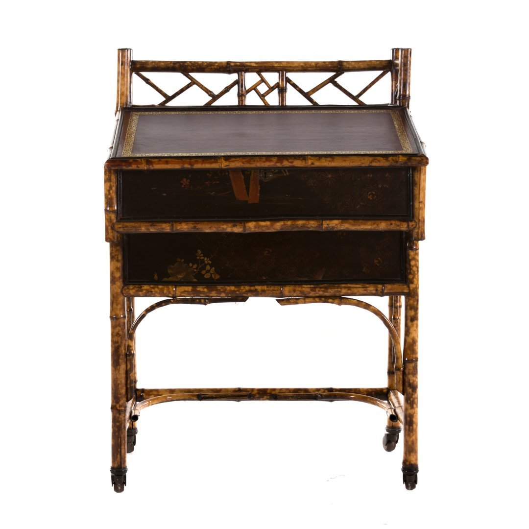 Victorian painted bamboo lady's desk