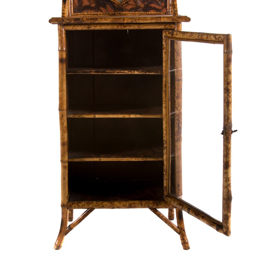 Victorian bamboo painted music stand - 4