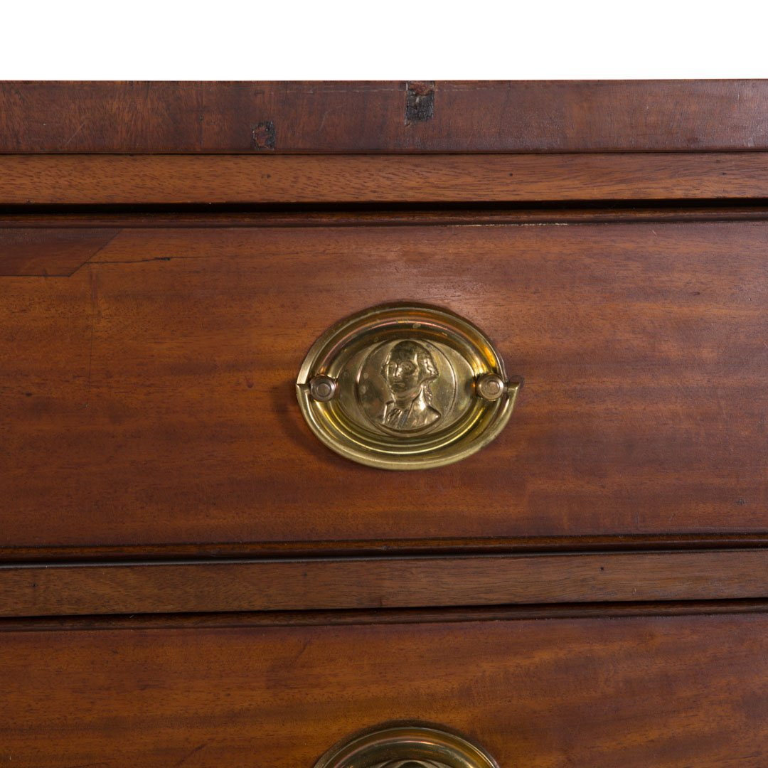 Federal mahogany bow front chest of drawers - 4