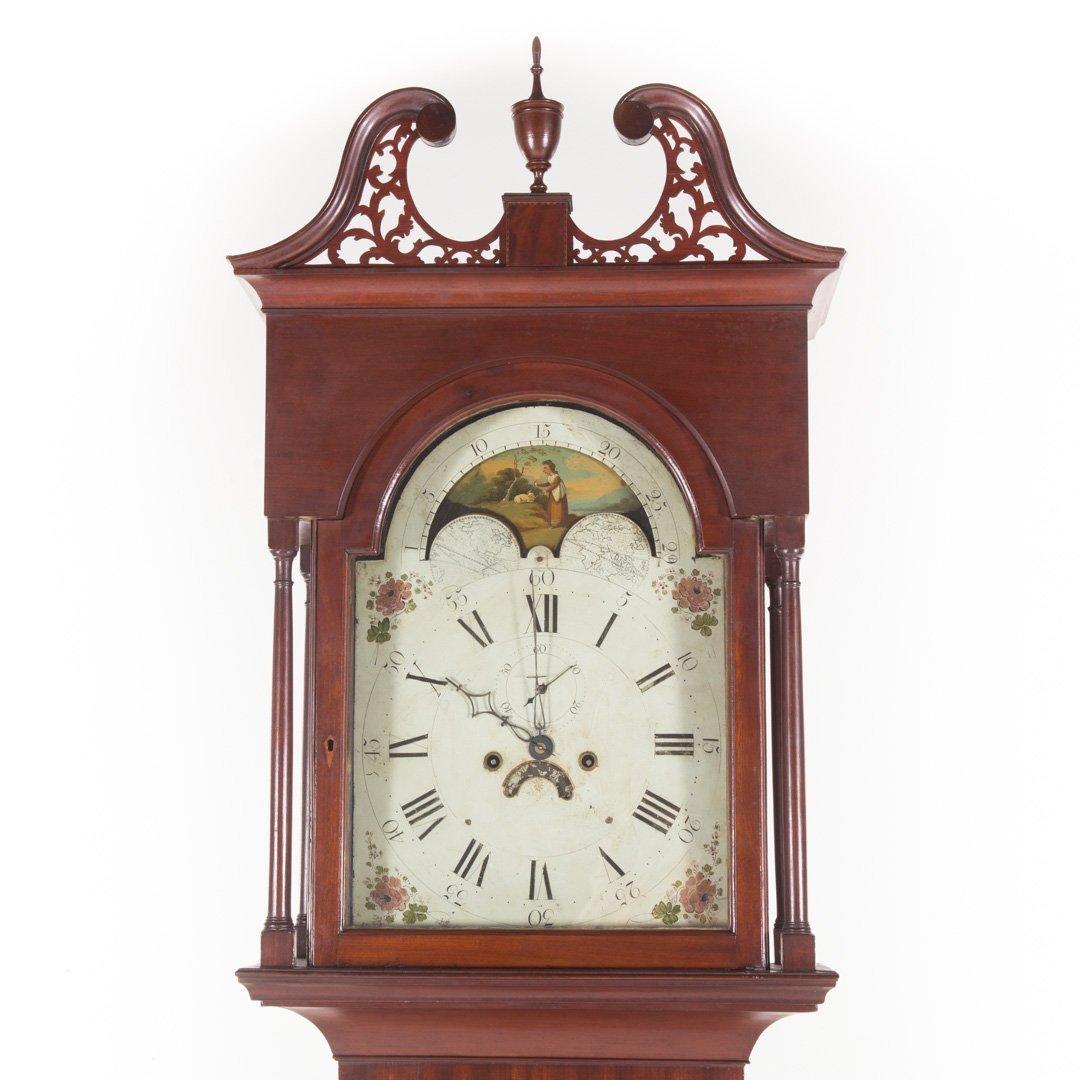 Federal inlaid mahogany tall-case clock - 2